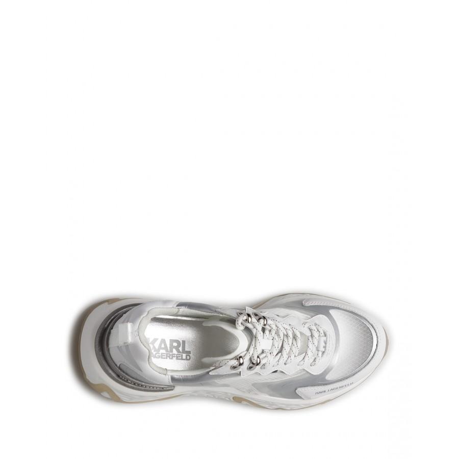 Women's Sneakers KARL LAGERFELD KL62410R11 White Leather White