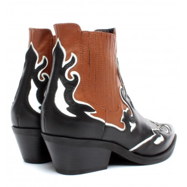 Women's Ankle Boots JANET & JANET 44202 Amanda Leather Black Brown