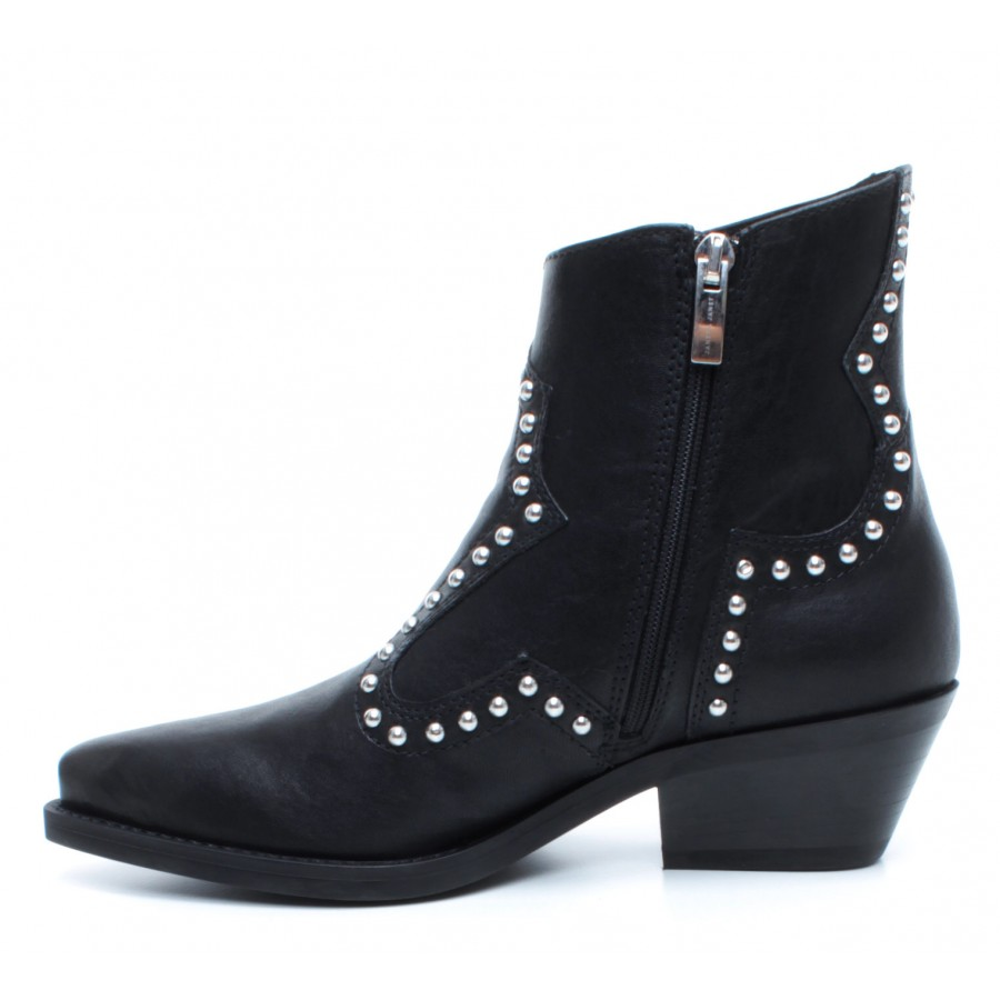 Women's Ankle Boots JANET & JANET 44200 Ophelia Nero Leather Black