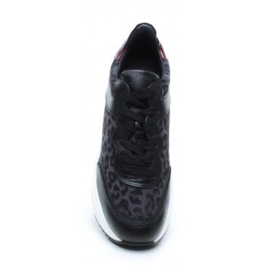 Women's Sneakers JANET SPORT 44735 Amanda Leather Rubber Black