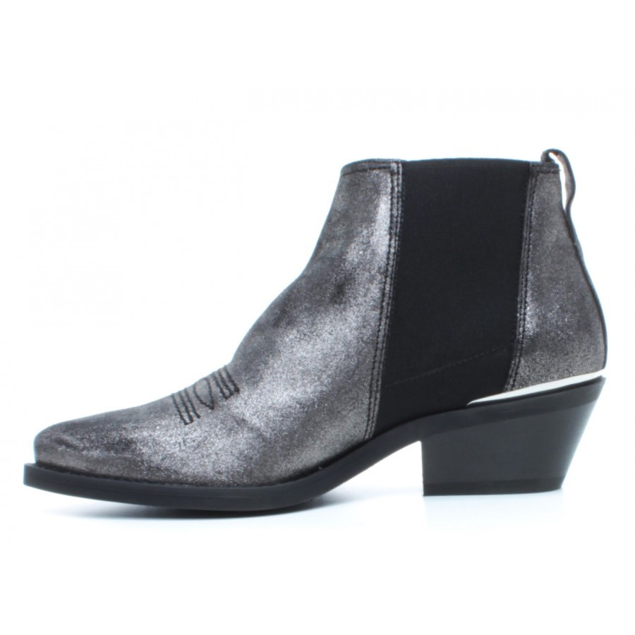 Women's Ankle Boots JANET & JANET 44213 Odessa Fucile Leather Gray