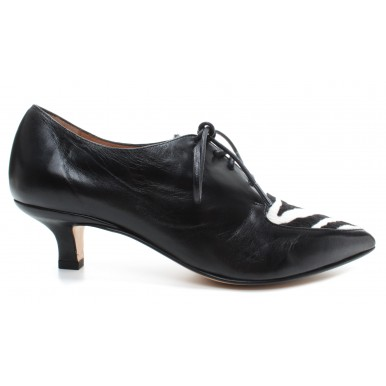 Women's Heels Shoes POMME D'OR 4543 Glove Nero Pony Leather Black