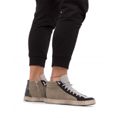 Men's Sneakers Shoes P448 Skate M Swamp Suede Canvas Gray