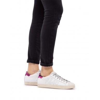 Women's Sneakers Shoes P448 Bjohn Whi Zebf Leather White