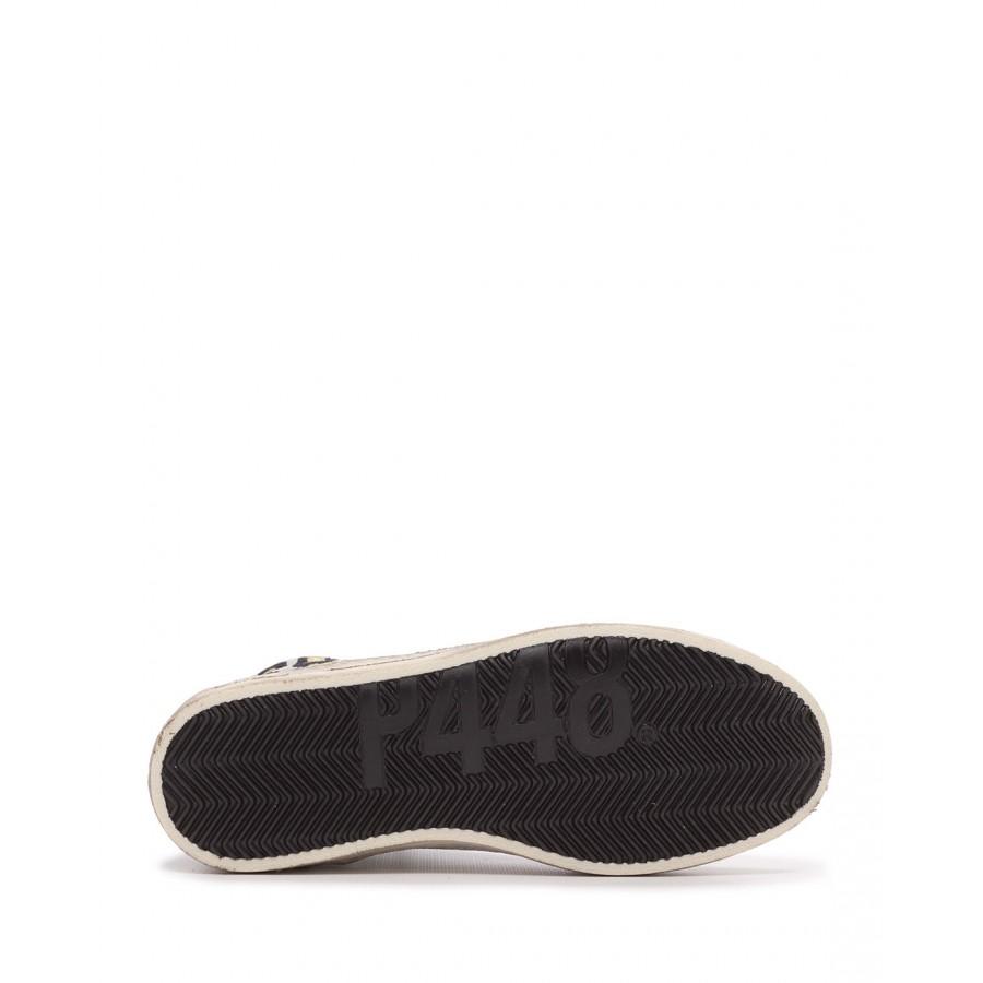 Women/'s Sneakers P448 Skatebs W Leo Sand Leather Black Leopard