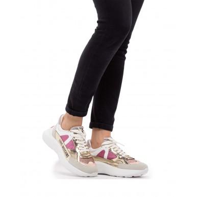 Women's Sneakers LOVE MOSCHINO JA15306 Glitter Fuxia Gold