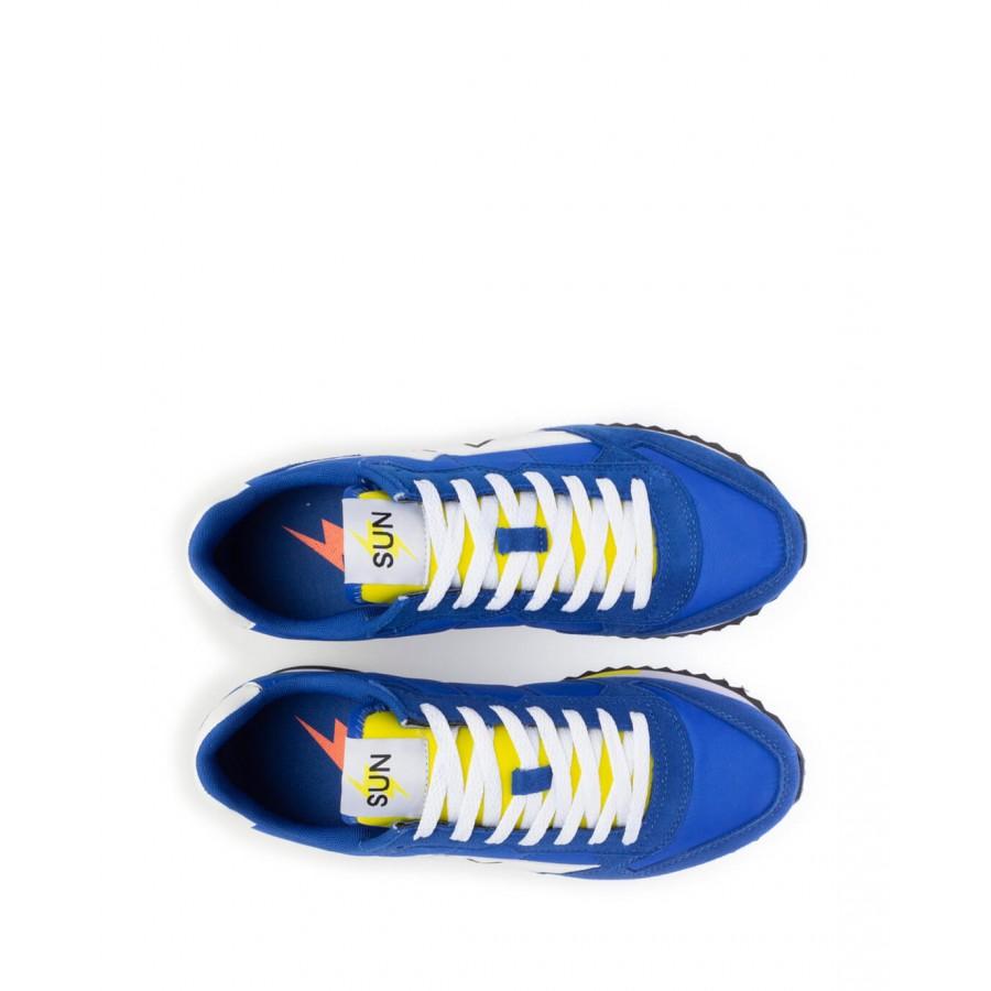 Men's Sneakers Shoes SUN68 Z31118 Royal Suede Fabric Blue