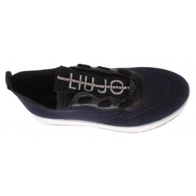 Women's Sneakers LIU JO Asia 04 Slip On Blue Fabric
