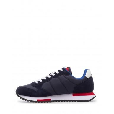 Men's Sneakers Shoes SUN68 Z31118 Navy Blue Suede Fabric