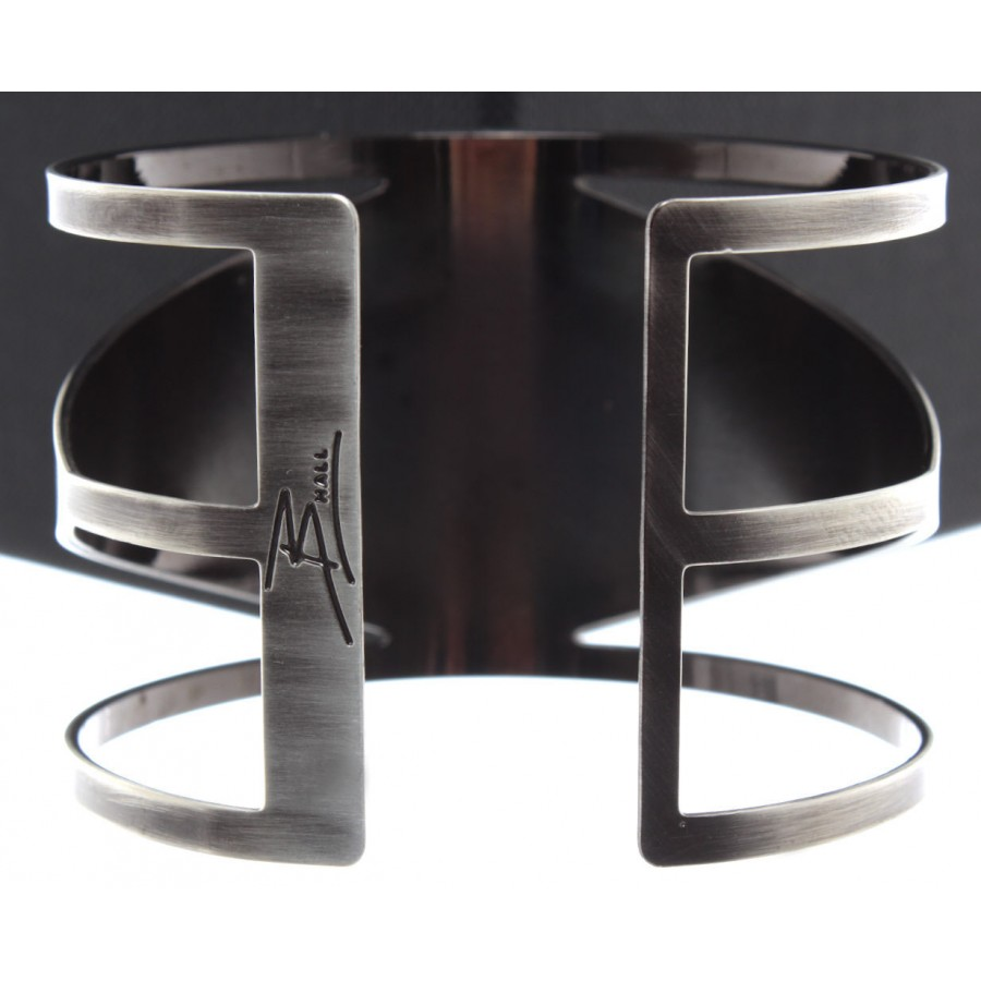 Woman Bracelet B-HALL Rhomb Brushed Brass Galvanic Handmade Made In Italy New