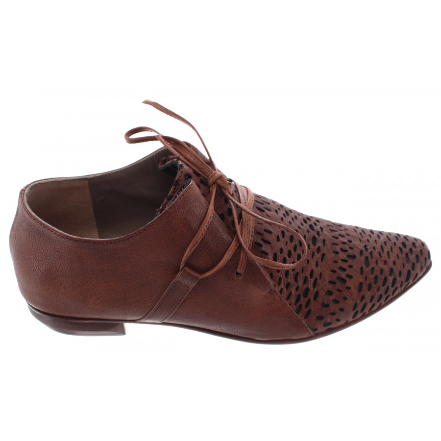 Women's Shoes iXOS Splonge Cuoio Marrone Brown Leather Made In Italy New