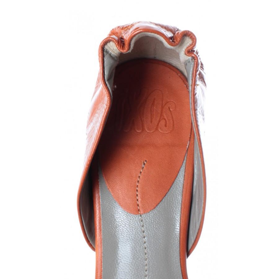 Women's Shoes Sandal Hell iXOS Orange Silene Aragosta Leather Made In Italy