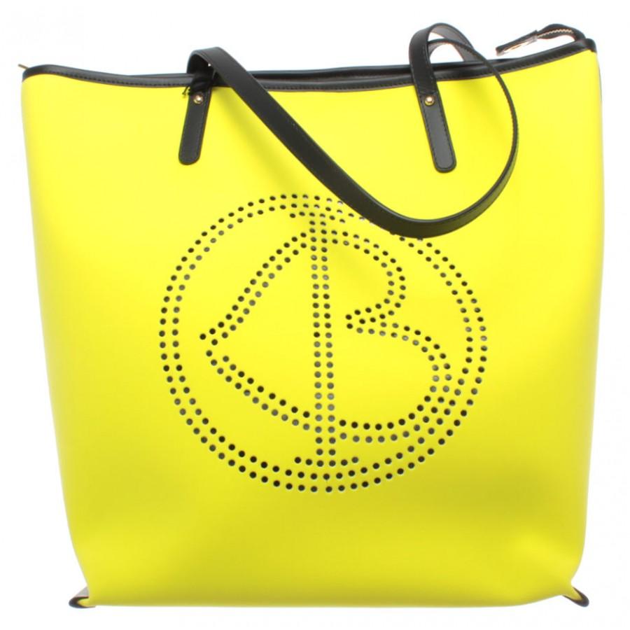 Women's Shoulder Bag BAGGHY Venezia Love Bella Shopping Bag L Rubber Yellow New