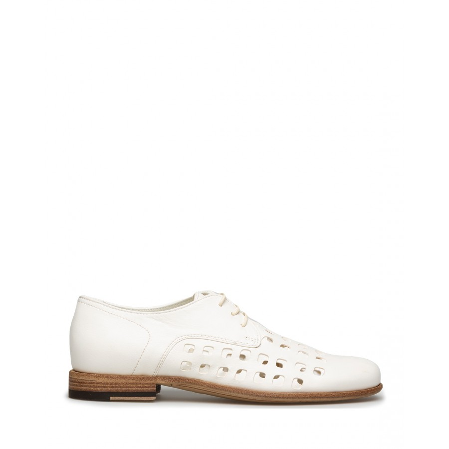 Women's Shoes PANTANETTI 14272D Jade Cera Leather White
