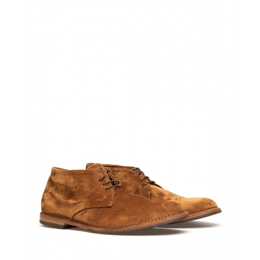 Men's Ankle Boot Shoes PANTANETTI 14411A Soffice Sigaro Suede Brown