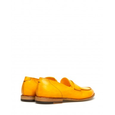 Women's Shoes Loafers PANTANETTI 14130E Canole Giallo Oro Leather Yellow
