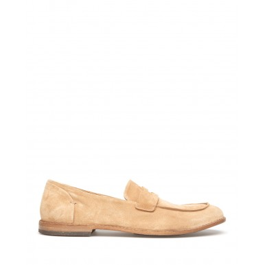 Men's Loafers Shoes PANTANETTI 14436A Soffice Tabacco Suede Beige