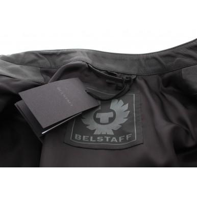 BELSTAFF Men's Jacket 71020725 Arnos Black Leather Black Zip New