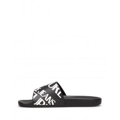 Men's Sandals Slippers VERSACE JEANS COUTURE E0YWASQ1 899 Fabric Black