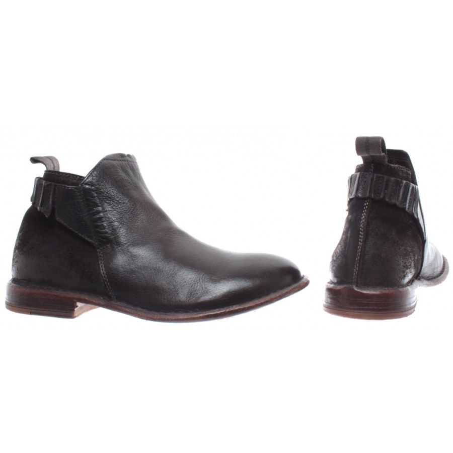MOMA Women's Shoes Ankle Boots 48904-BB Bufalo Testa Moro Leather Brown New