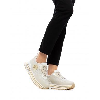 Women's Sneakers Shoes LIU JO Maxi Wonder 24 Milk Leather Fabric