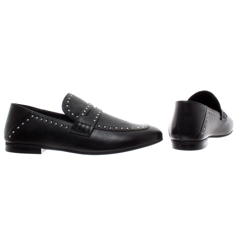 Details about  /JANET /& JANET Women/'s Shoes Ines Leather Black Studs New