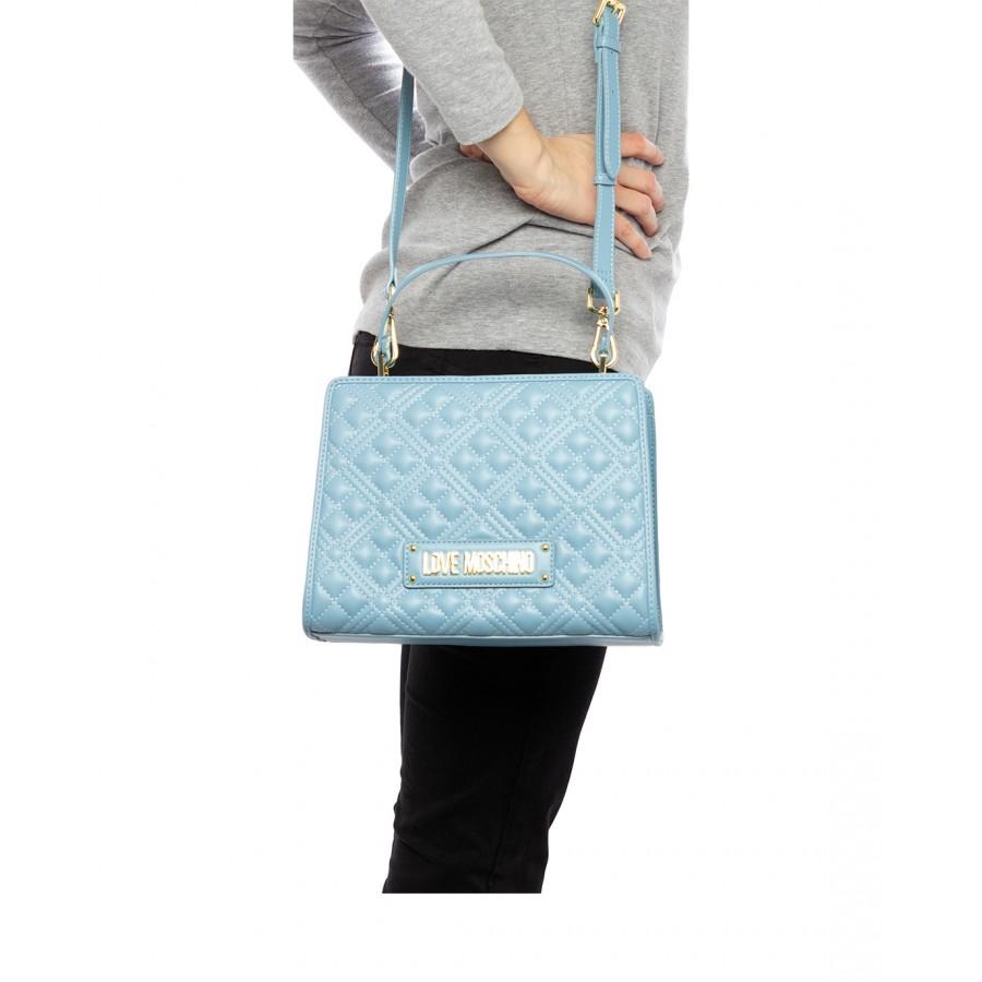 Women's Hand Shoulder Bag LOVE MOSCHINO JC4007 Pu Synthetic Light Blue