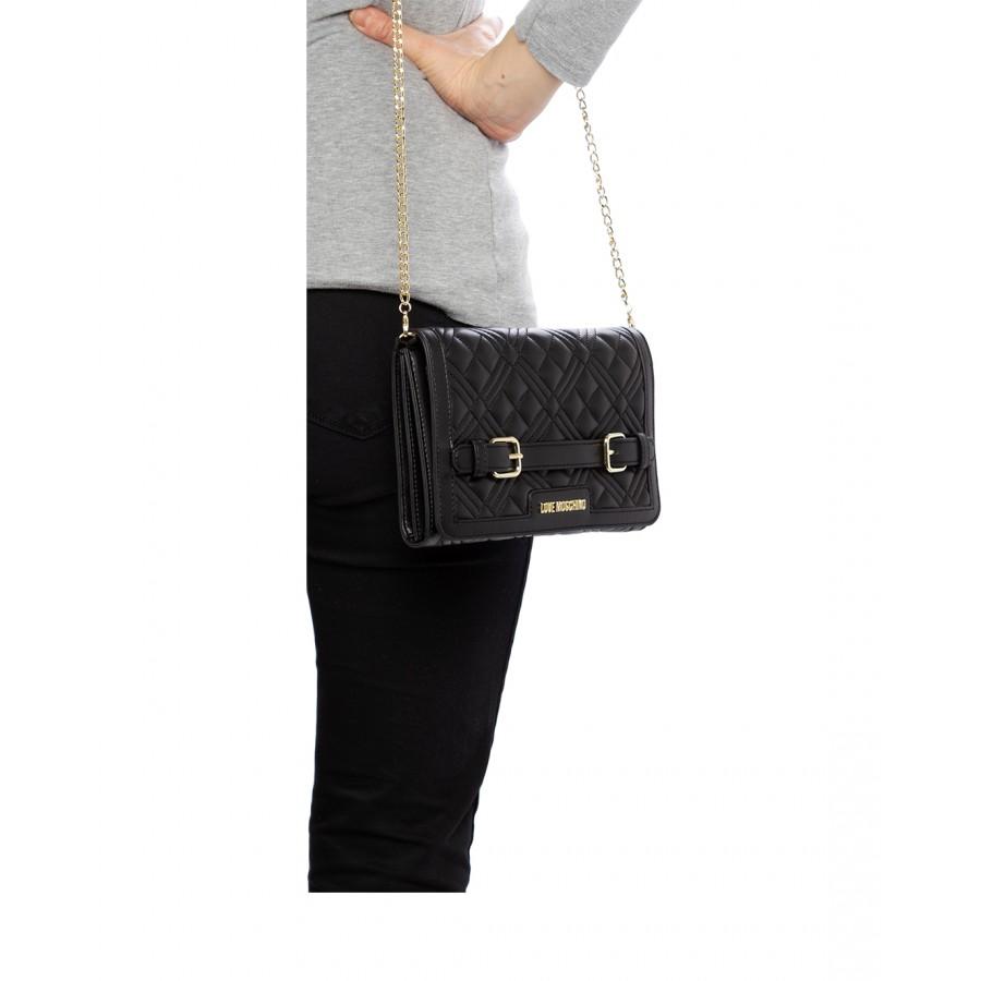 Women's Shoulder Bag LOVE MOSCHINO JC4129 Pu Nero Synthetic Black