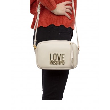 Women's Shoulder Bag LOVE MOSCHINO JC4107 Pu Synthetic Ivory