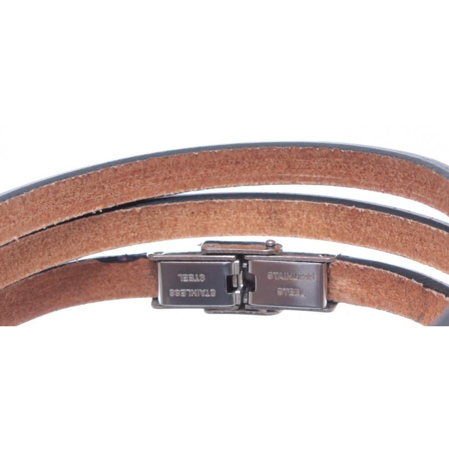 Bracelet Prayer Our Father Latin Genuine Leather Violet Adjustable