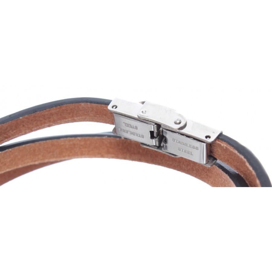 Bracelet Prayer Our Father Latin Genuine Leather Orange Adjustable