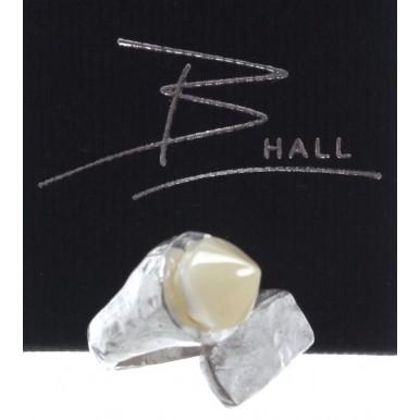 Anello Unisex B-HALL Gargoyle Moonlight Silver 925 Brushed Adjustable Made Italy