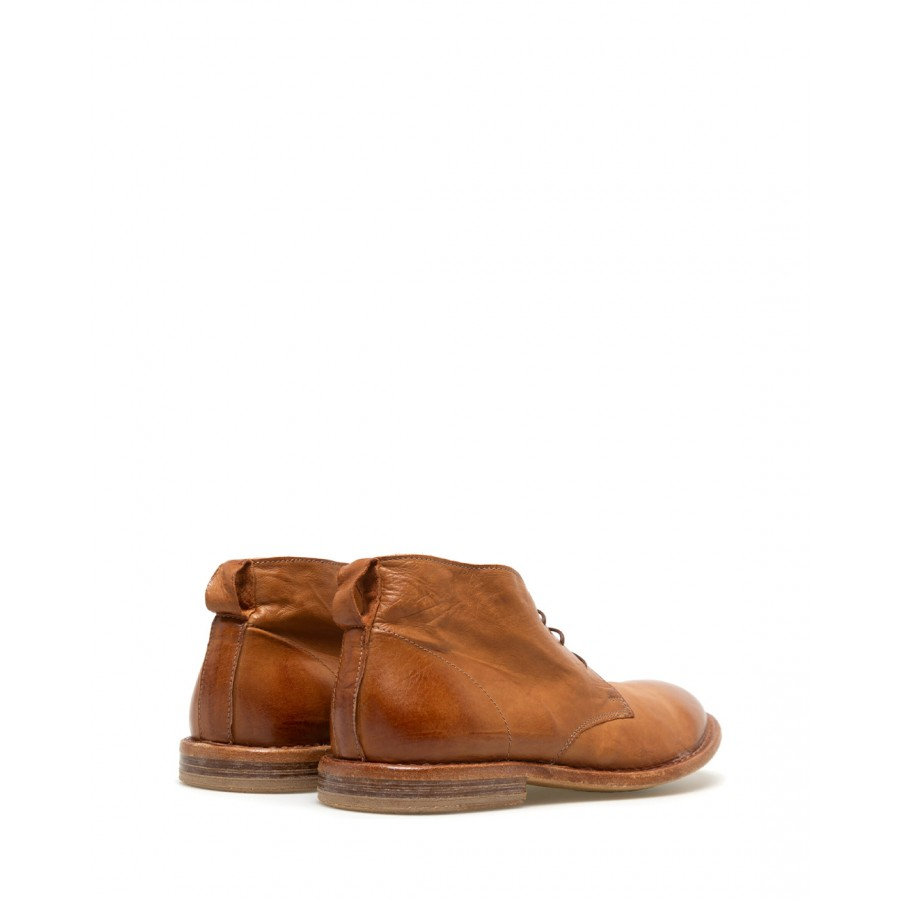 Men's Shoes Ankle Boot MOMA 2BS025 Sombre Cinnamon Suede Beige