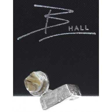 Ring Unisex B-HALL Gargoyle Milkyway 925 Brushed And Beaten By Hand Made Italy