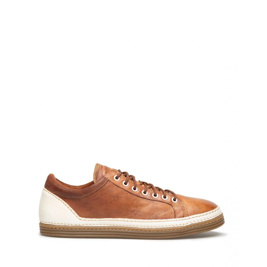 Men's Sneakers Shoes PREVENTI Mattias Cav Tin Cotto Leather Brown