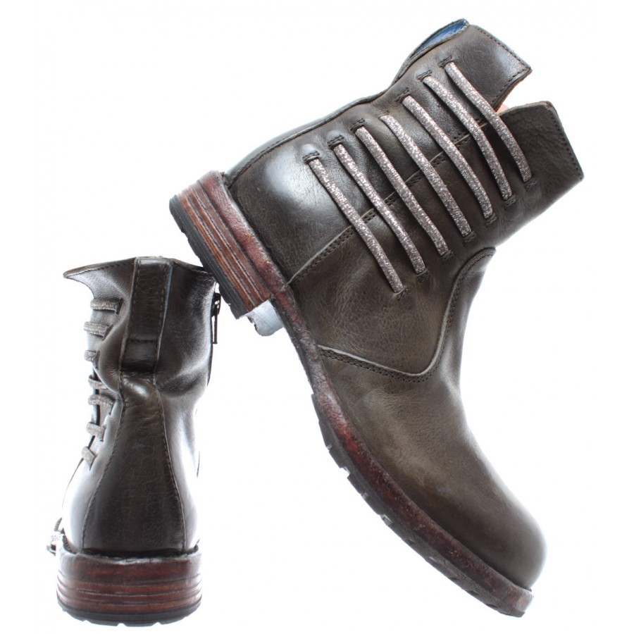 Women's Ankle Boots MOMA 79813-2h Cusna Old Trafford Leather Green
