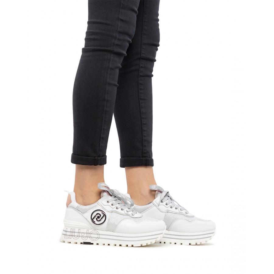 Women's Sneakers LIU JO Milano Maxi Wonder 24 White Leather Fabric