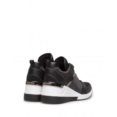 Women's Sneakers MICHAEL KORS 43R1GEFS2D Georgie Black Leather Fabric