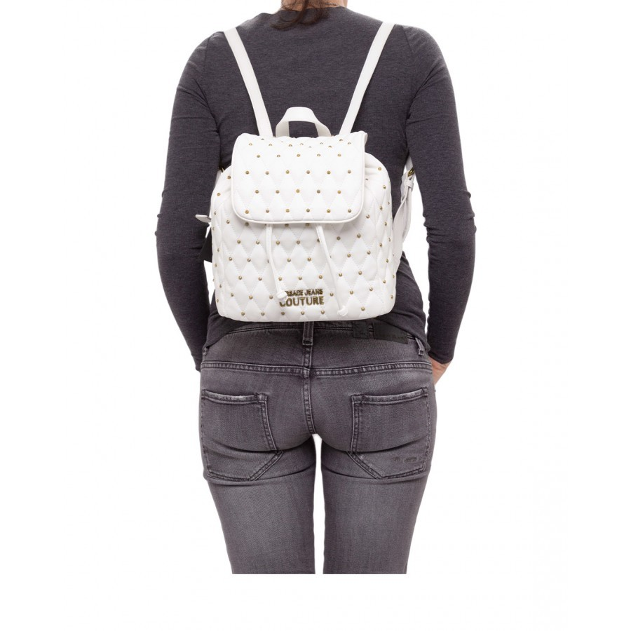 Women's Backpack VERSACE JEANS COUTURE E1VWABQ7 71881 003 Synthetic White
