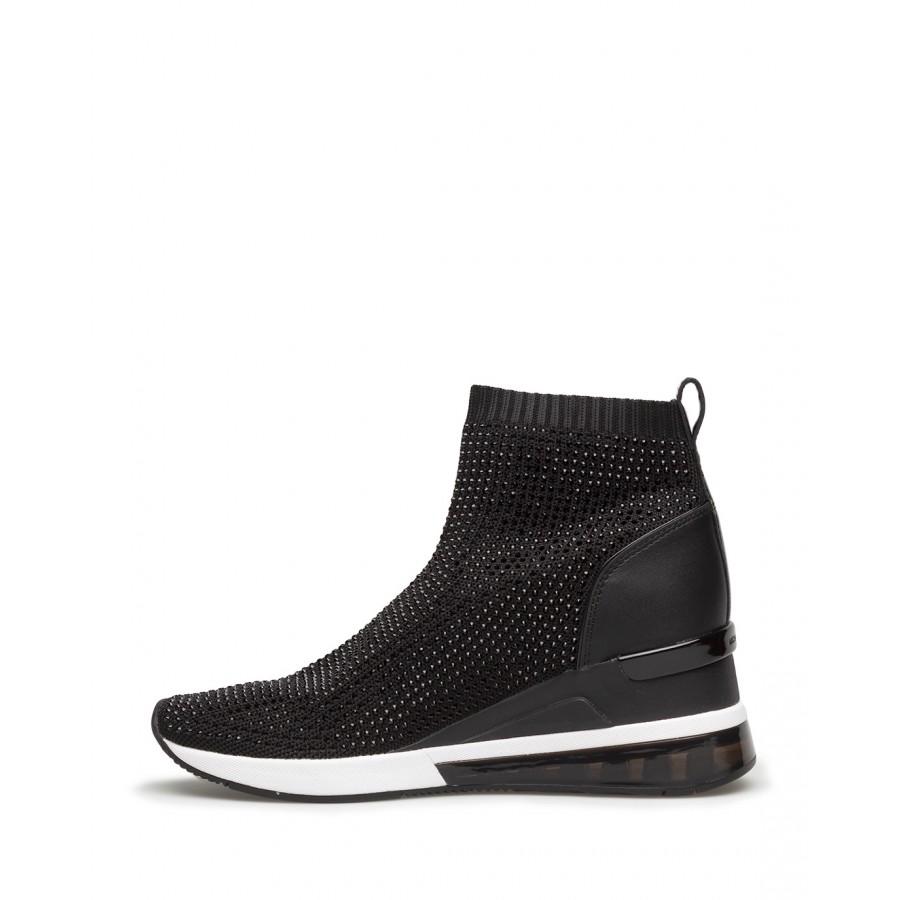 Women's Sneakers MICHAEL KORS 43R1SKFE1D Skyler Black Leather Fabric