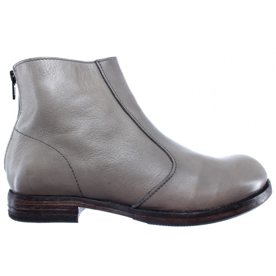 Women's Shoes Ankle Boots MOMA 88703-R1 Pelle Leather Grey Vintage Made In Italy
