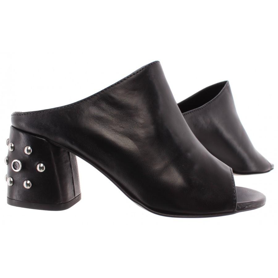 REBECCA MINKOFF Women's Shoe Sandal Sabot RMSUSL SL02 Selene Studs Leather Black