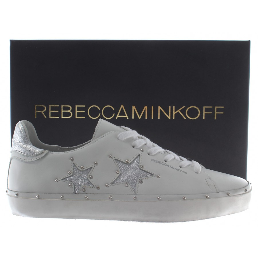 Women's Shoes Sneakers REBECCA MINKOFF RMMILT01WHSV Michell Nappa White Low New