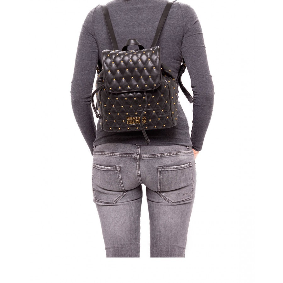 Women's Backpack VERSACE JEANS COUTURE E1VWABQ7 71881 899 Synthetic Black