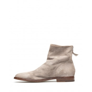 Women's Ankle Boots Shoes MOMA 1CS024-OL Oliver Grigio Suede Gray