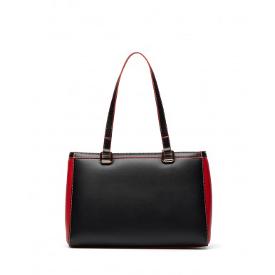 Women's Shoulder Bag LOVE MOSCHINO JC4256 Mix Synthetic Black Red