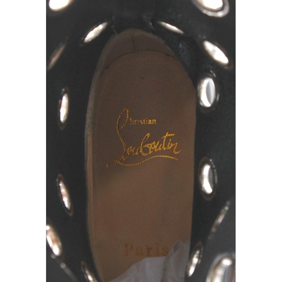 Women's Shoes Boots CHRISTIAN LOUBOUTIN Apollobotta Calf Black Silver Italy New