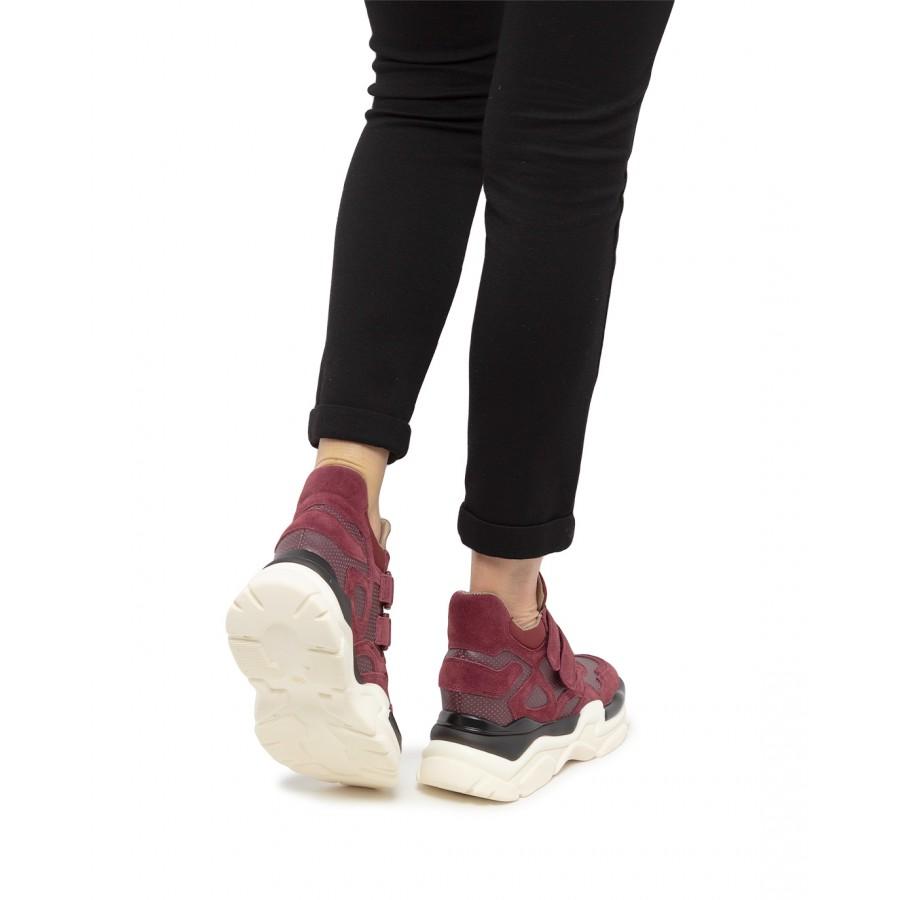 Women's Sneakers LA CARRIE P011K Crosta Purple Leather Synthetic
