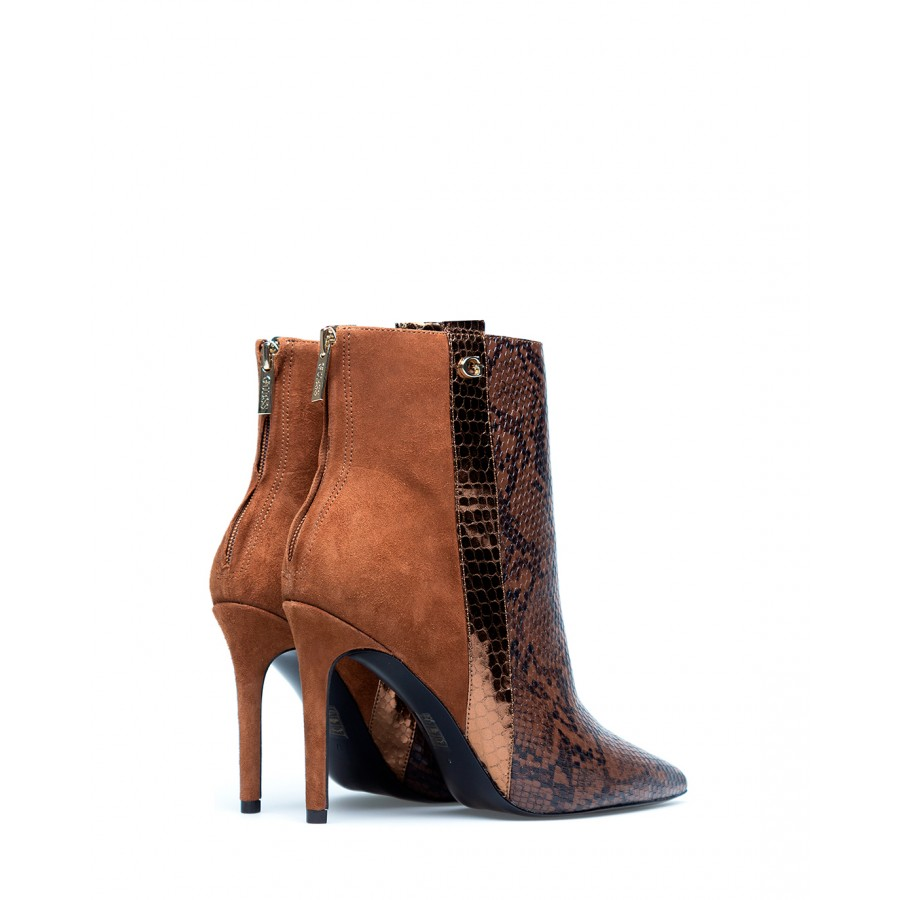 Women's Ankle Boots GUESS FL8BZ2ELE10 Brown Leather Synthetic