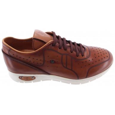 Men's Shoes ROBERTO SERPENTINI Sneakers Pelle Nocciola Light Brown Confort New